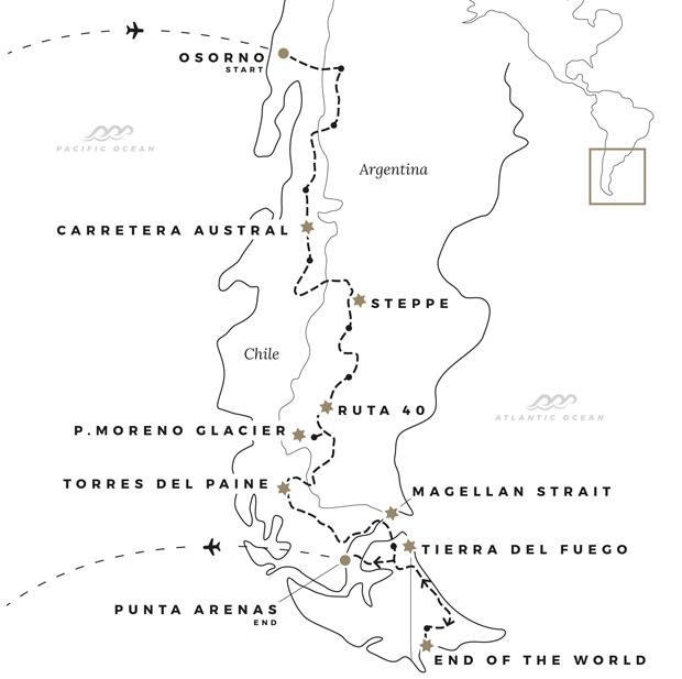patagonia-tierra-del-fuego-terra-del-fuoco-ruta-40-carretera-austral-guided-self-guided-adventure-bmw-r1200gs-ushuaia-torres-del-paine-perito-moreno-map-1